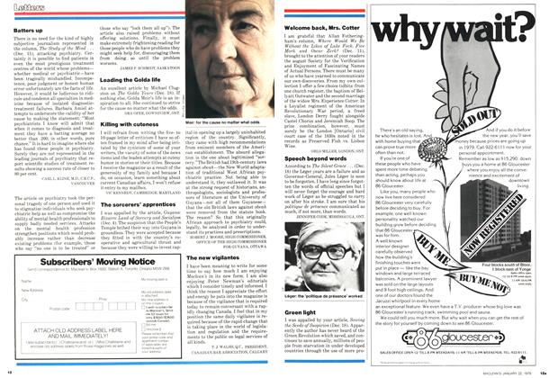 Article Preview: Letters, January 1979 | Maclean's