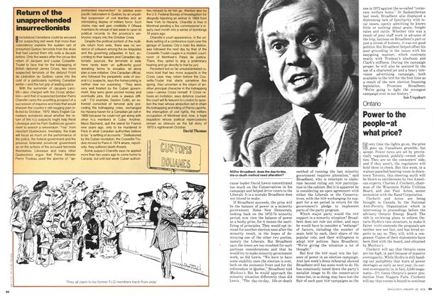 Article Preview: Return of the unapprehended insurrectionists, January 1979 | Maclean's