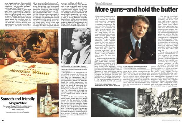 Article Preview: More guns-and hold the butter, January 1979 | Maclean's