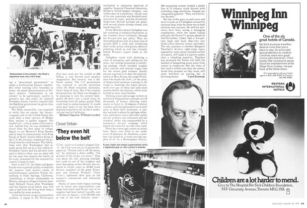 Article Preview: 'They even hit below the belt', January 1979 | Maclean's