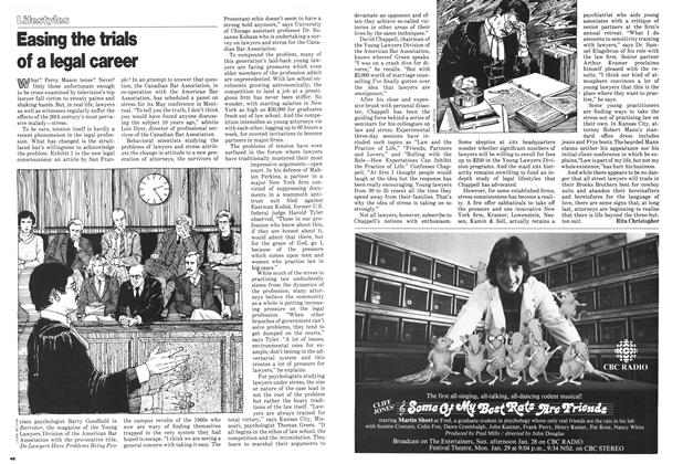 Article Preview: Easing the trials of a legal career, January 1979 | Maclean's