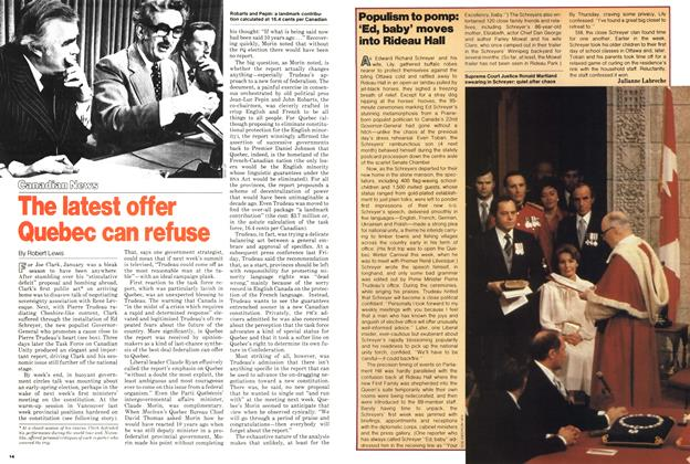 Article Preview: Populism to pomp: 'Ed, baby' moves into Rideau Hall, February 1979 | Maclean's