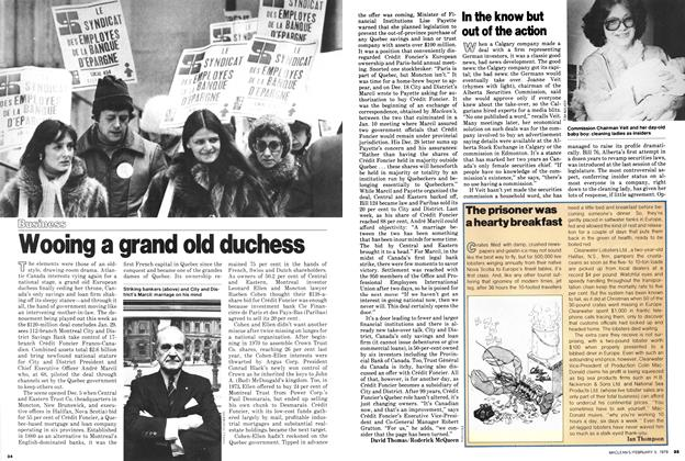 Article Preview: Wooing a grand old duchess, February 1979 | Maclean's