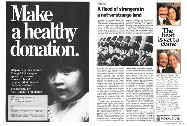 Article Preview: A flood of strangers in a not-so-strange land, February 1979 | Maclean's