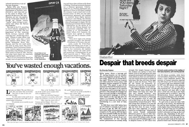 Article Preview: Despair that breeds despair, February 1979 | Maclean's