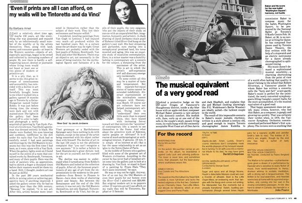 Article Preview: 'Even if prints are all I can afford, on my walls will be Tintoretto and da Vinci', February 1979 | Maclean's