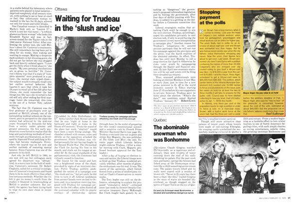 Article Preview: Waiting for Trudeau in the 'slush and ice', February 1979 | Maclean's