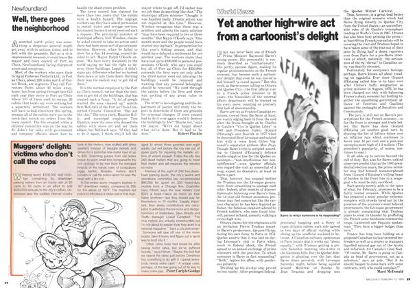 Article Preview: Yet another high-wire act from a cartoonist's delight, February 1979 | Maclean's