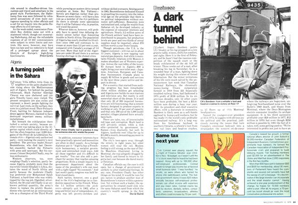 Article Preview: A dark tunnel behind, February 1979 | Maclean's