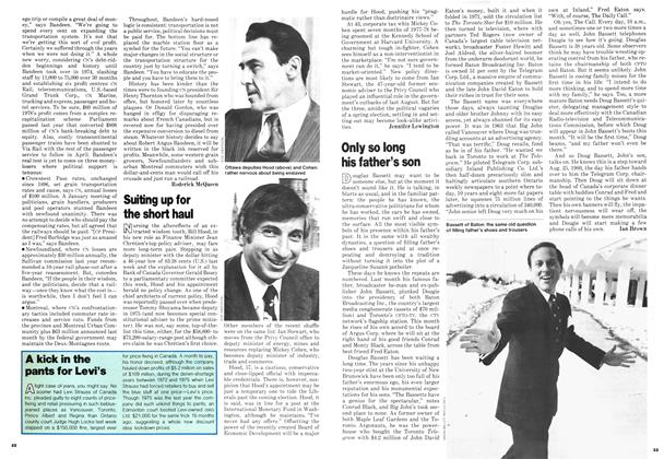 Article Preview: Only so long his father's son, February 1979 | Maclean's
