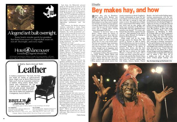 Article Preview: Bey makes hay, and how, February 1979 | Maclean's