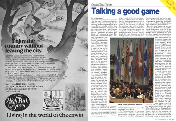 Article Preview: Talking a good game, February 1979 | Maclean's