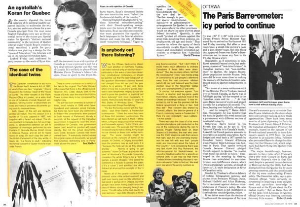 Article Preview: The Paris Barre-ometer: icy period to continue, February 1979 | Maclean's