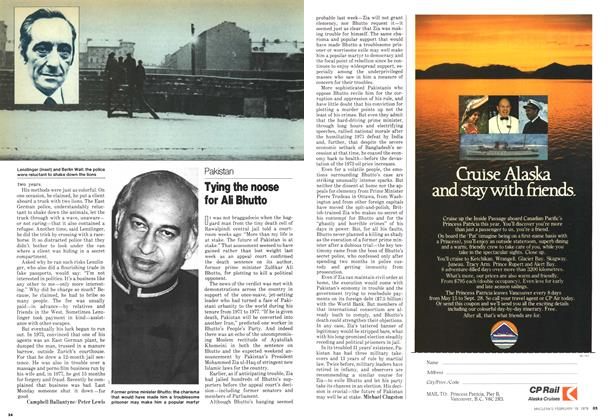 Article Preview: Tying the noose for Ali Bhutto, February 1979 | Maclean's