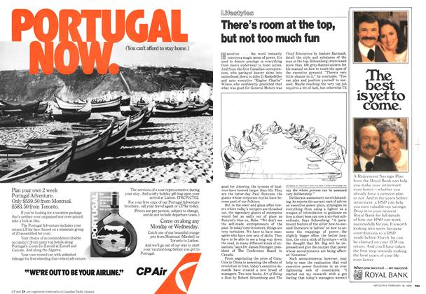 Article Preview: There's room at the top, but not too much fun, February 1979 | Maclean's