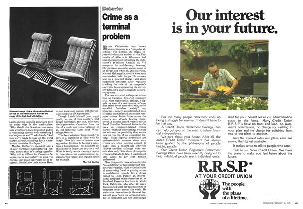 Article Preview: Crime as a terminal problem, February 1979 | Maclean's