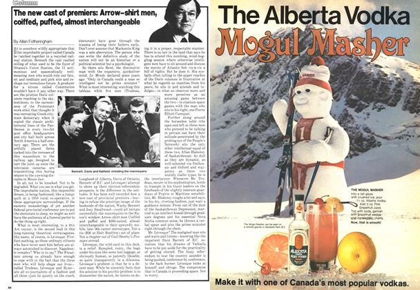 Article Preview: The new cast of premiers: Arrow-shirt men, coiffed, puffed, almost interchangeable, February 1979 | Maclean's