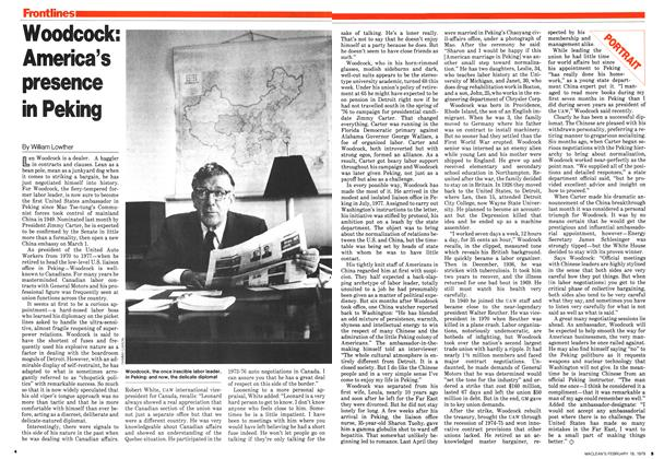 Article Preview: Woodcock: America's presence in Peking, February 1979 | Maclean's