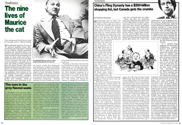 Article Preview: China's Fling Dynasty has a $200-billion shopping list, but Canada gets the crumbs, February 1979 | Maclean's
