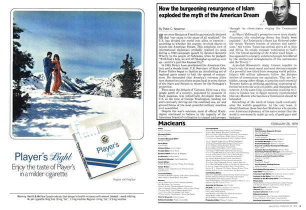 Article Preview: How the burgeoning resurgence of Islam exploded the myth of the American Dream, February 1979   Maclean's