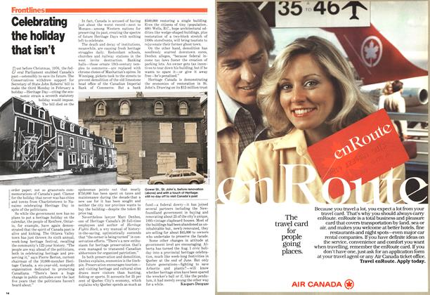 Article Preview: Celebrating the holiday that isn't, February 1979 | Maclean's