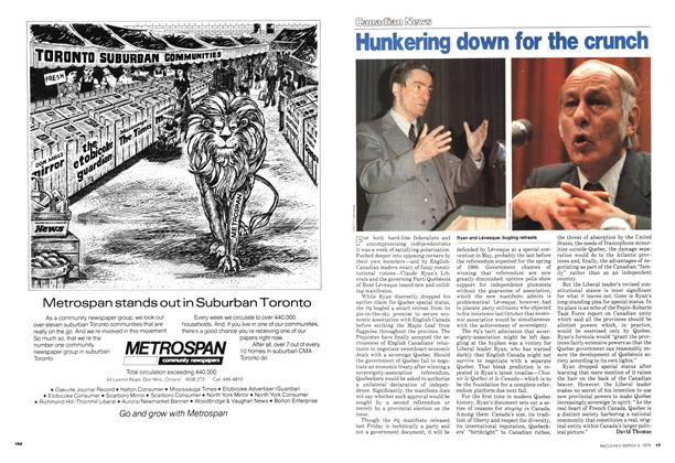 Article Preview: Hunkering down for the crunch, March 1979 | Maclean's