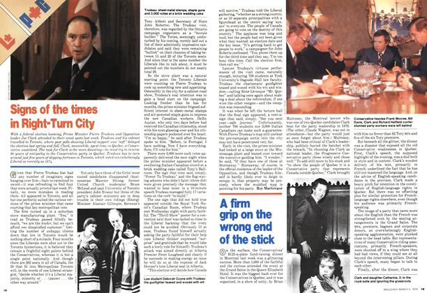 Article Preview: A firm grip on the wrong end of the stick, March 1979 | Maclean's