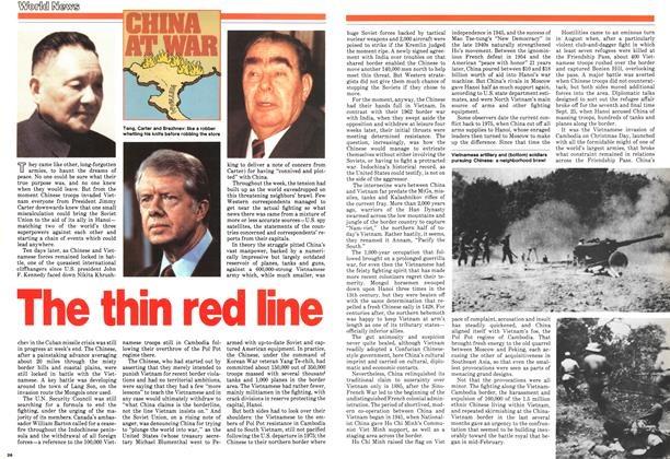 Article Preview: The thin red line, March 1979 | Maclean's