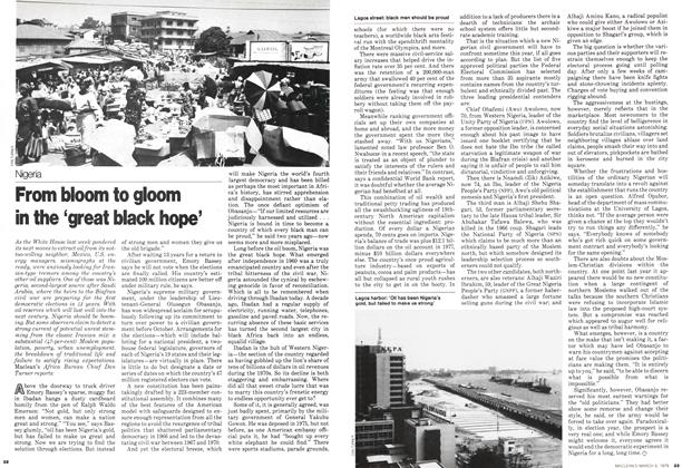 Article Preview: From bloom to gloom in the 'great black hope', March 1979 | Maclean's