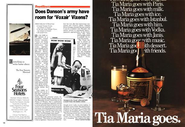 Article Preview: Does Danson's army have room for 'Voxair' Vixens?, March 1979 | Maclean's