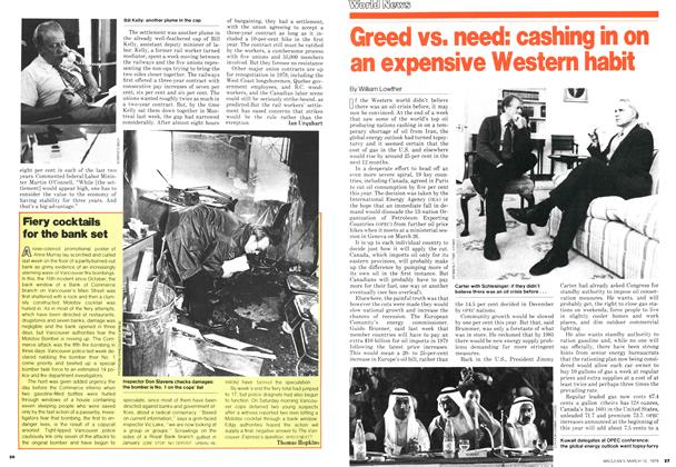 Article Preview: Fiery cocktails for the bank set, March 1979 | Maclean's