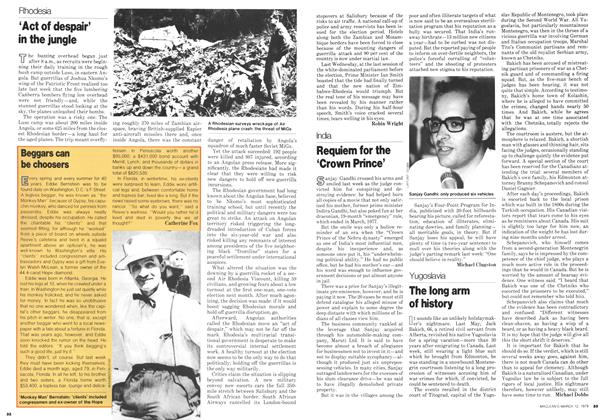Article Preview: 'Act of despair' in the jungle, March 1979 | Maclean's