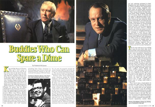 Article Preview: Buddies Who Can Spare a Dime, March 1979 | Maclean's