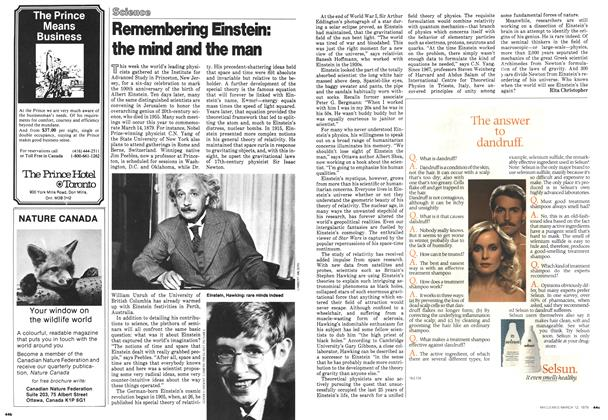 Article Preview: Remembering Einstein: the mind and the man, March 1979 | Maclean's