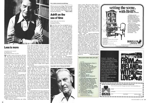 Article Preview: Less is more, March 1979 | Maclean's