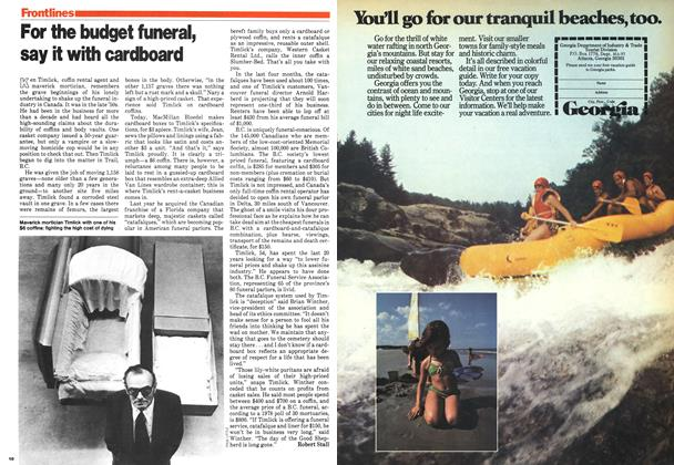 Article Preview: For the budget funeral, say it with cardboard, March 1979 | Maclean's