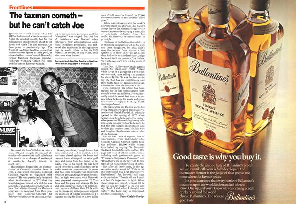 Article Preview: The taxman cometh-but he can't catch Joe, March 1979   Maclean's