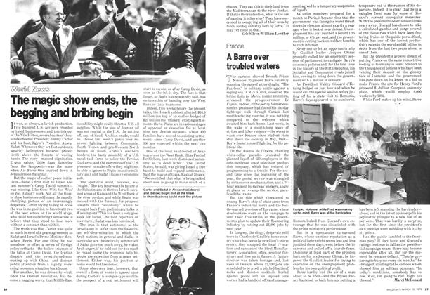 Article Preview: The magic show ends, the begging and bribing begin, March 1979 | Maclean's