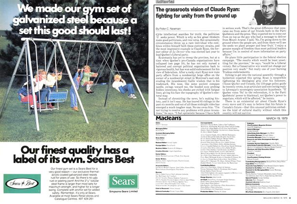 Article Preview: The grassroots vision of Claude Ryan: fighting for unity from the ground up, March 1979 | Maclean's