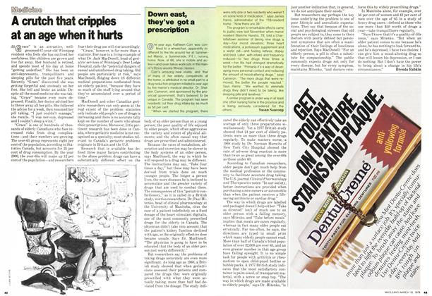 Article Preview: A crutch that cripples at an age when it hurts, March 1979 | Maclean's