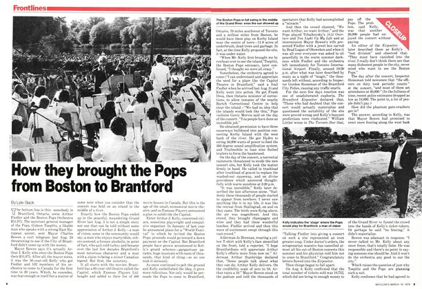 Article Preview: How they brought the Pops from Boston to Brantford, March 1979 | Maclean's