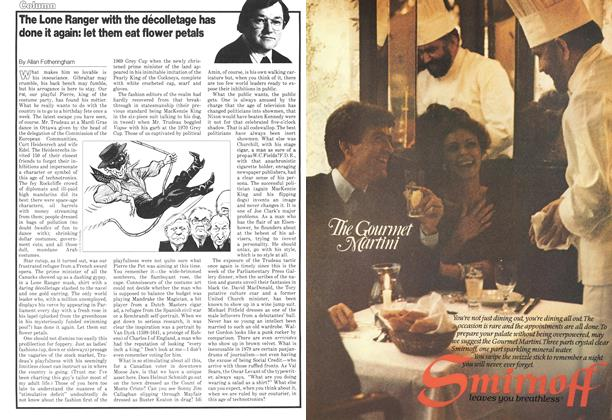 Article Preview: The Lone Ranger with the décolletage has done it again: let them eat flower petals, March 1979 | Maclean's