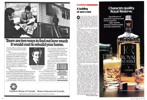 Article Preview: A building of one's own, March 1979 | Maclean's