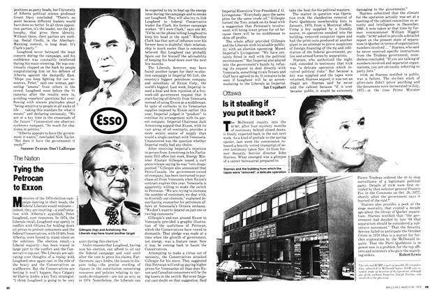 Article Preview: Tying the Petrocan to Exxon, March 1979 | Maclean's