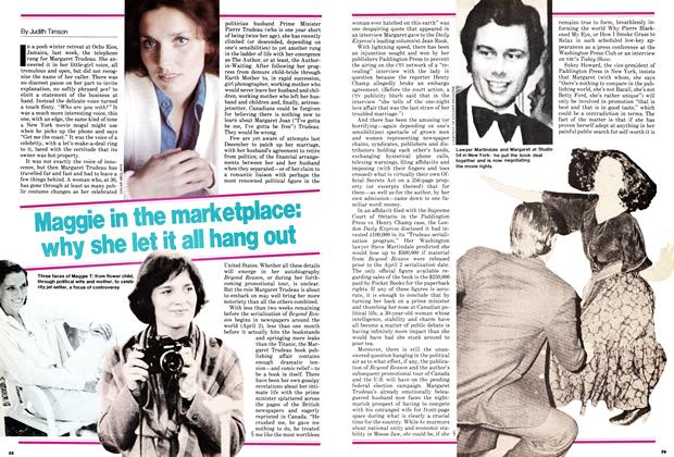 Article Preview: Maggie in the marketplace: why she let it all hang out, March 1979 | Maclean's