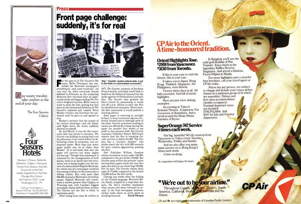 Article Preview: Front page chalenge: suddenly, it's for real, March 1979   Maclean's