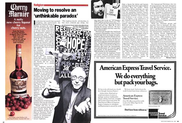 Article Preview: Moving to resolve an 'unthinkable paradox', March 1979 | Maclean's