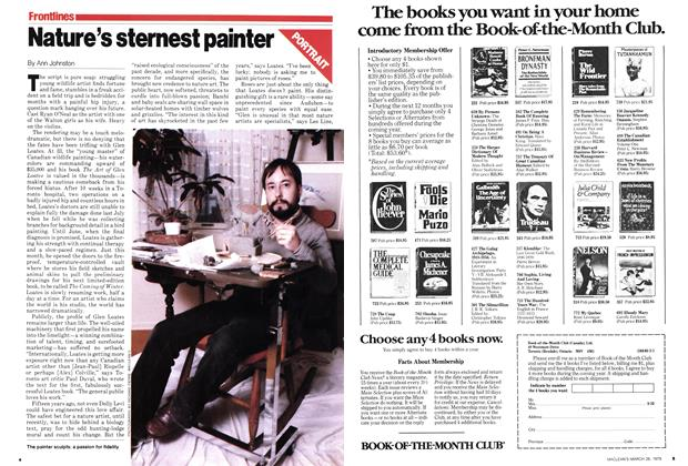 Article Preview: Nature's sternest painter, March 1979 | Maclean's