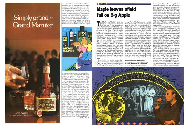 Article Preview: Maple leaves afield fall on Big Apple, April 1979 | Maclean's