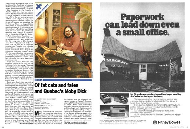 Article Preview: Of fat cats and fates and Quebec' Moby Dick, April 1979 | Maclean's